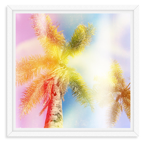 colorful palm tree abstract wall art lea
