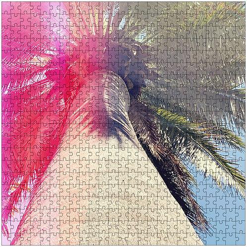 """The Pink Half"" - 500 Piece Fine Art Premium Puzzle"