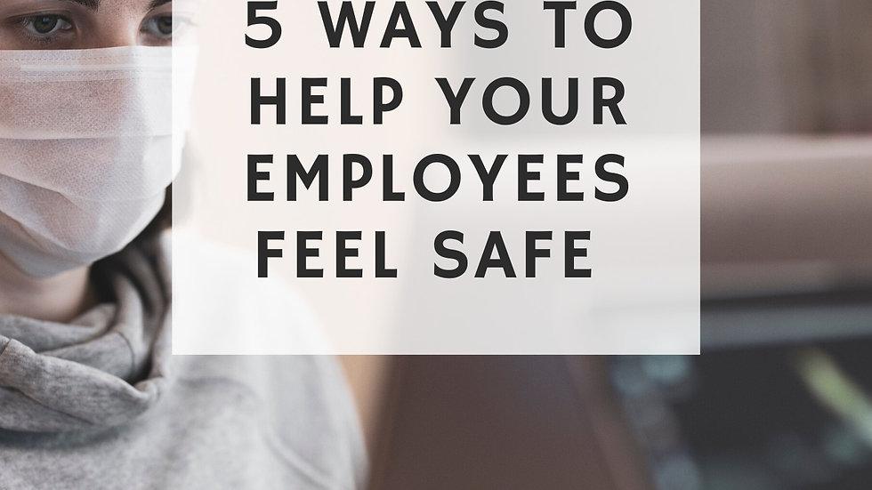 FREE - Coronavirus Era: 5 Tips to Help Your Employees Feel Safe