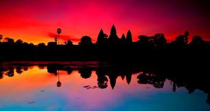 Anchor Wat Tapınağında Gün Doğuşu - Kamboçya