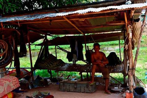 Çadırda - Kamboçya