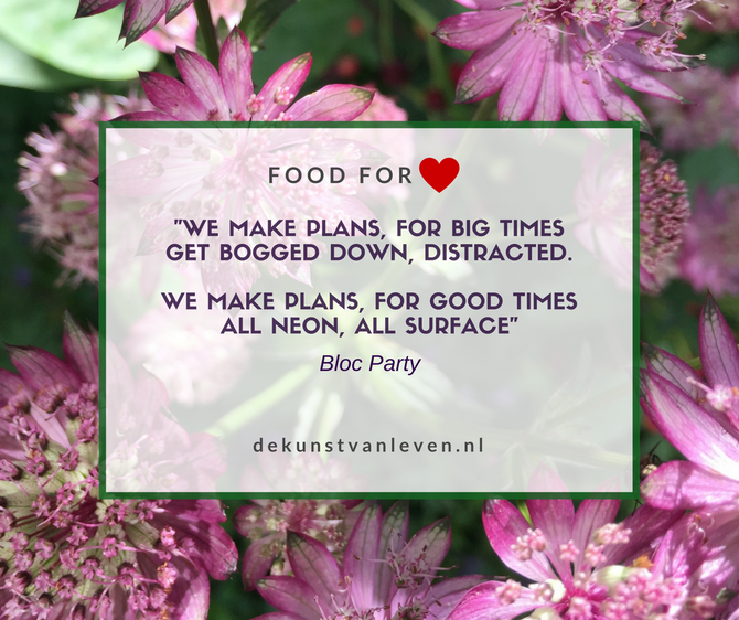 """We make plans, for big times'"