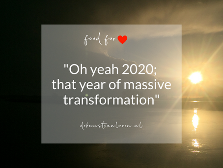 """Oh yeah 2020; that year of massive transformation"""