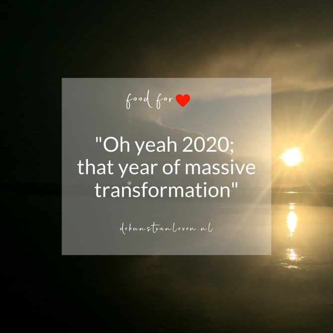"""""""Oh yeah 2020; that year of massive transformation"""""""