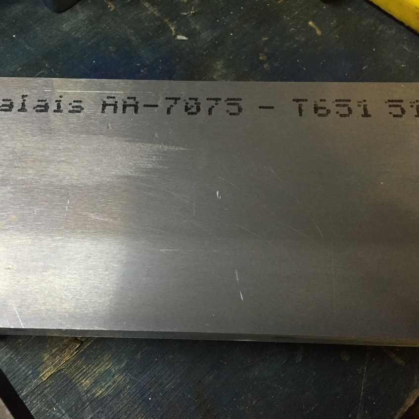 The 7075-T6 billet material