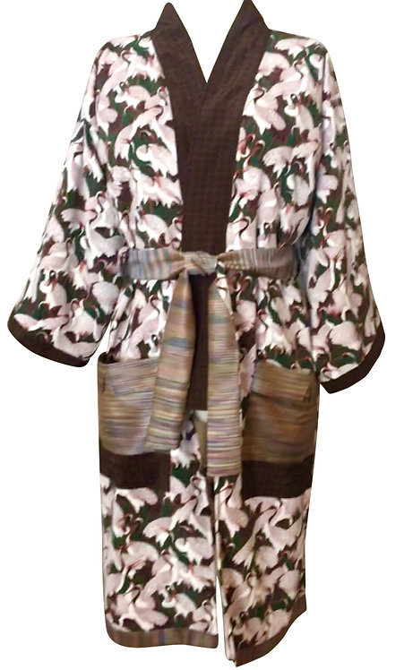 Houndstooth Heron Kimono
