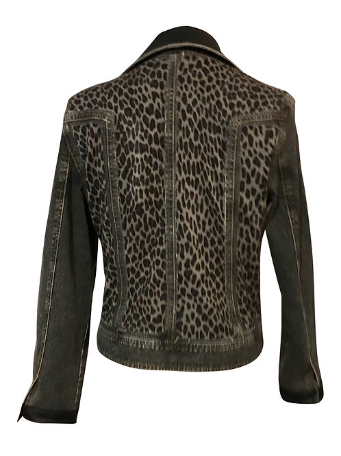 Moto Gray Cheetah Jacket