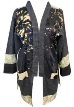 Navy Dot Kimono