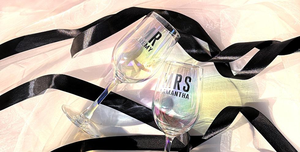 Iridescent Wine Glass GL412