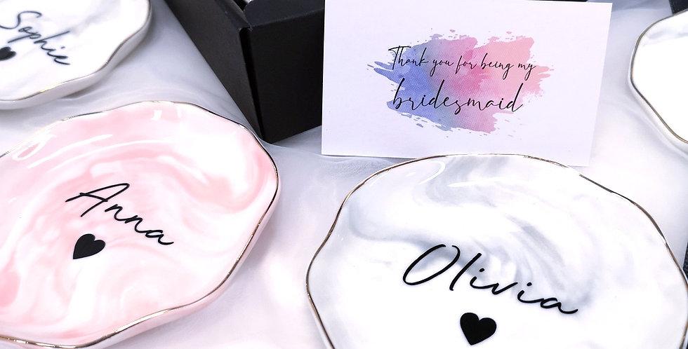 Marble Trinket Dish | Pink | GL422A
