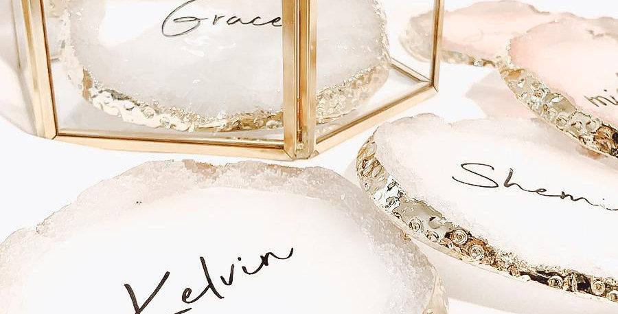 Crystal Coaster | White | GL423A