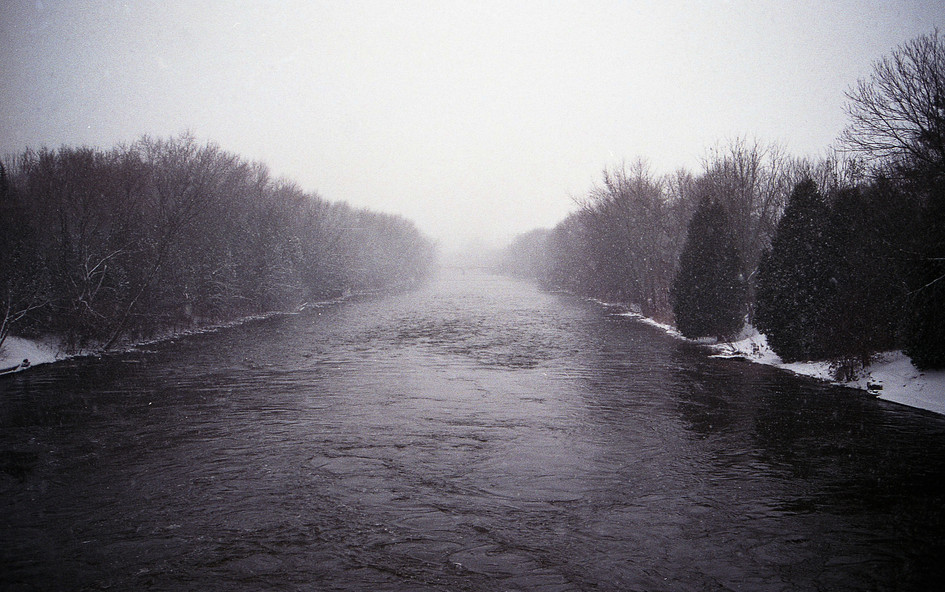 Speed River Mid January, Guelph