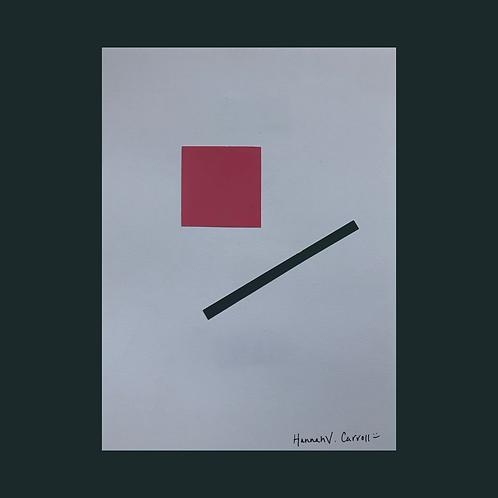Pink Square / Black Line