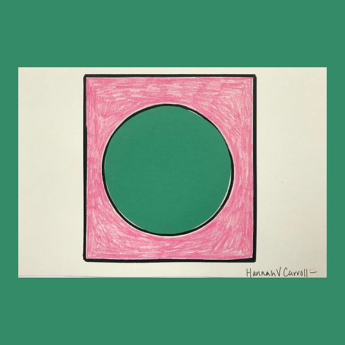 Green Circle with Pink