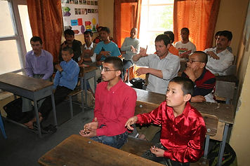Deaf doys and men have fun learning in our Deaf Center.
