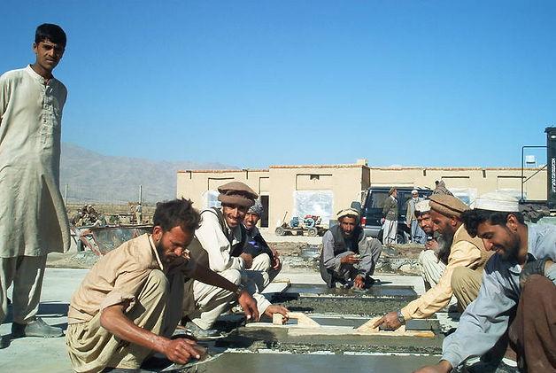 School girls and boys in Afghanistan