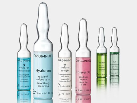 PERFECT SKIN WITH DR.GRANDEL'S ACTIVE CONCENTRATE AMPOULES.