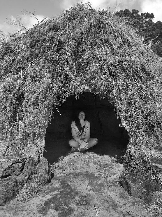 Serena in Gunditjmara Indigenous Dome-hut