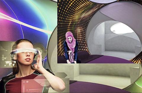 Futuriistic image of a woman in BioPod