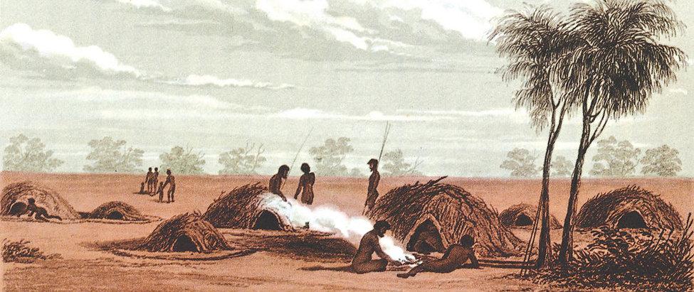 Illustration of Aboriginal community