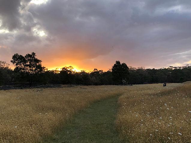 Sunset in Budj Bim.