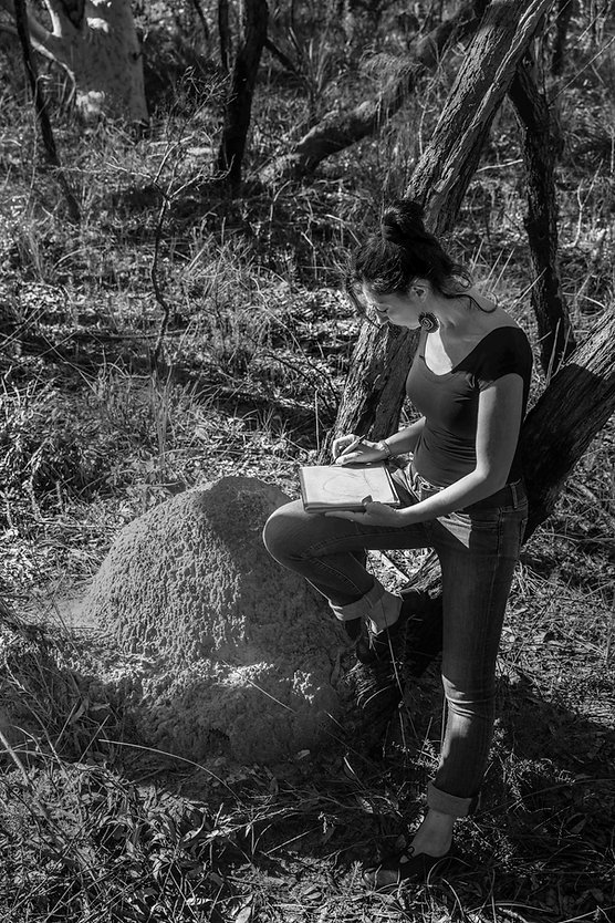 Serena taking notes in Ku-ring-gai Chase National Park.