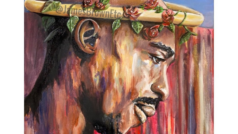 """Canvas Print """"hadithi isiyoweza kufa"""" (An immortal story/Legend)"""