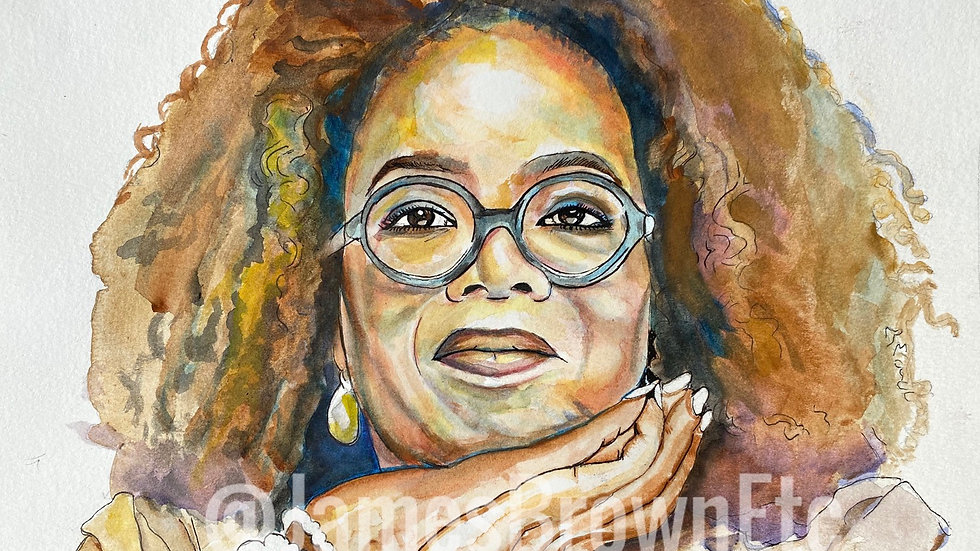 Oprah watercolor print