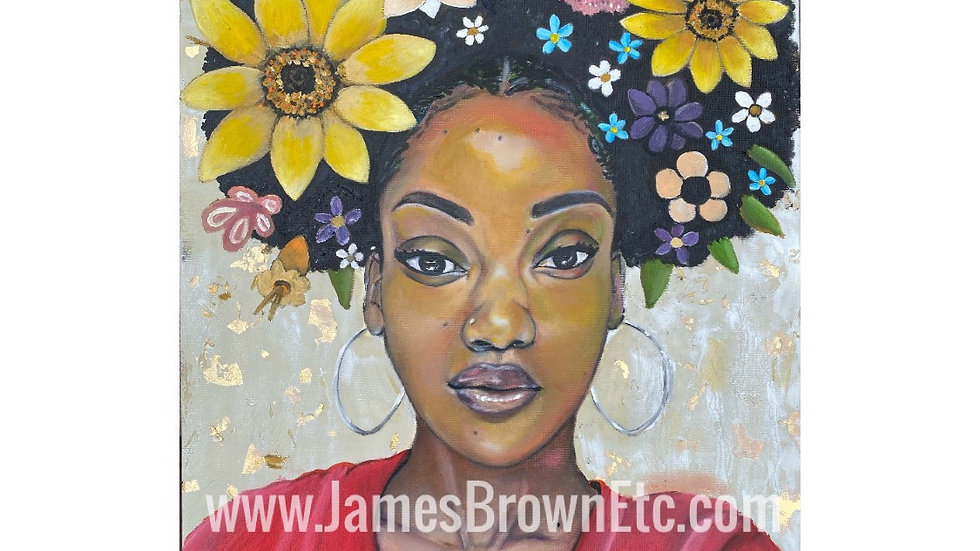Brown Skin Girl Canvas  prints