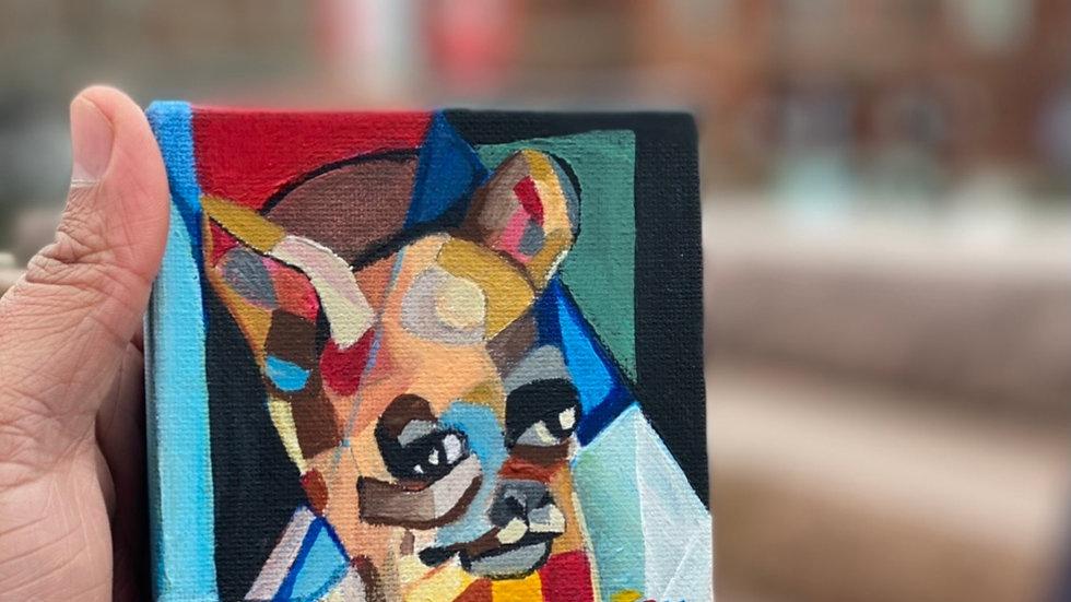 Chihuahua abstract painting