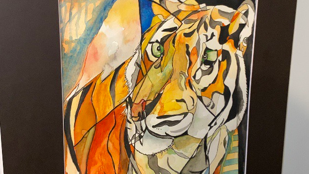 🐅👑 abstract watercolor