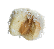 A single filling ensaymada ball with Yema Filling