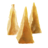 An illustration of three yema candies, a traditional Filipino candy made from eggs and milk.