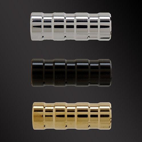 Toe Pegs - Black, Polished & Brass