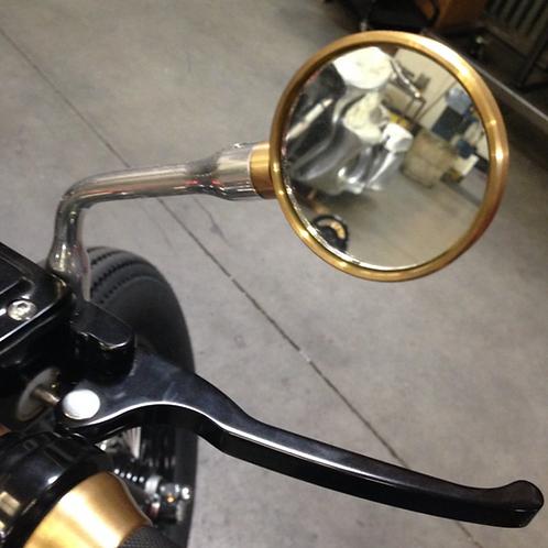 2″ round brass mirror