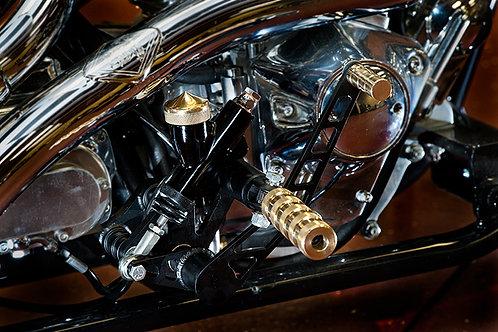 Spitfire Pegs - Black, Brass & Chrome