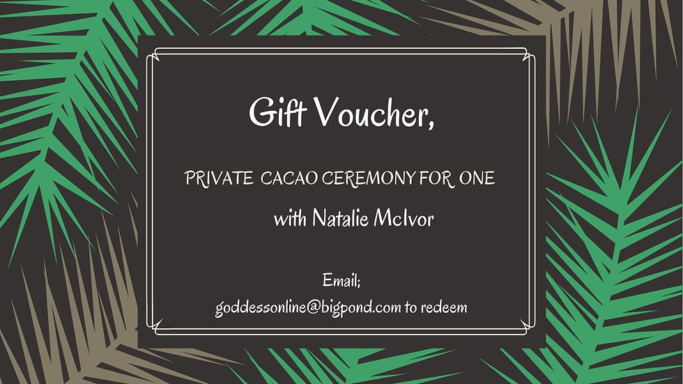 Gift Voucher Private Cacao Ceremony for One