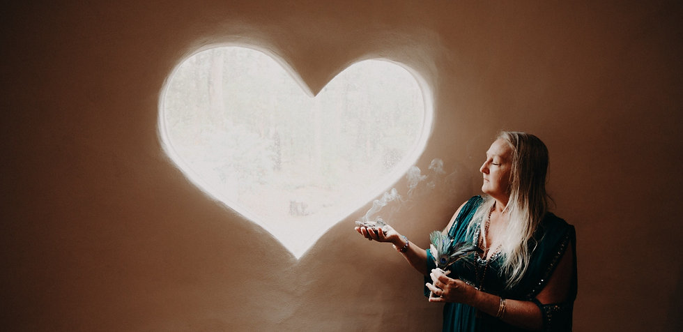 Natalie McIvor The Vibrational Healer clearing energy with smoke