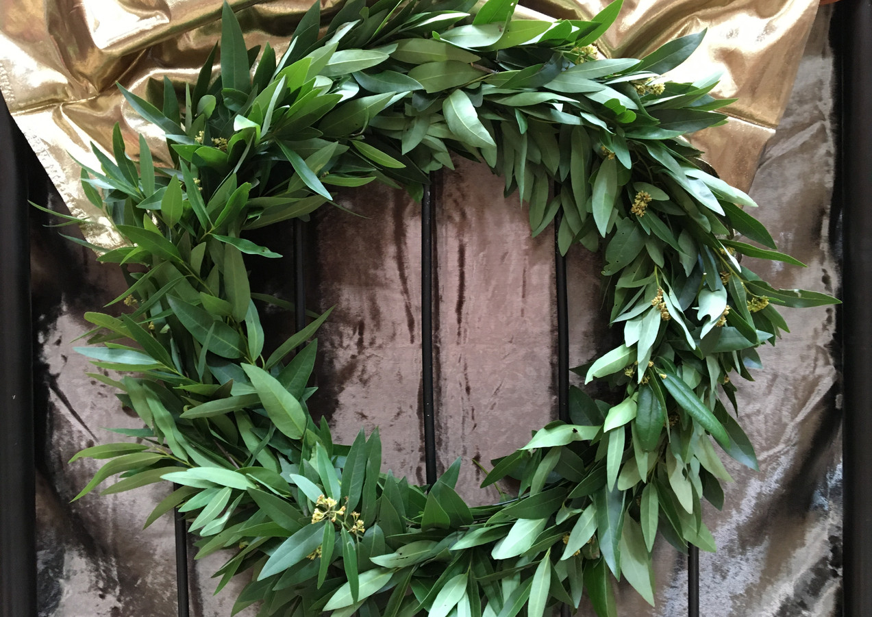 California Bay Laurel Wreath