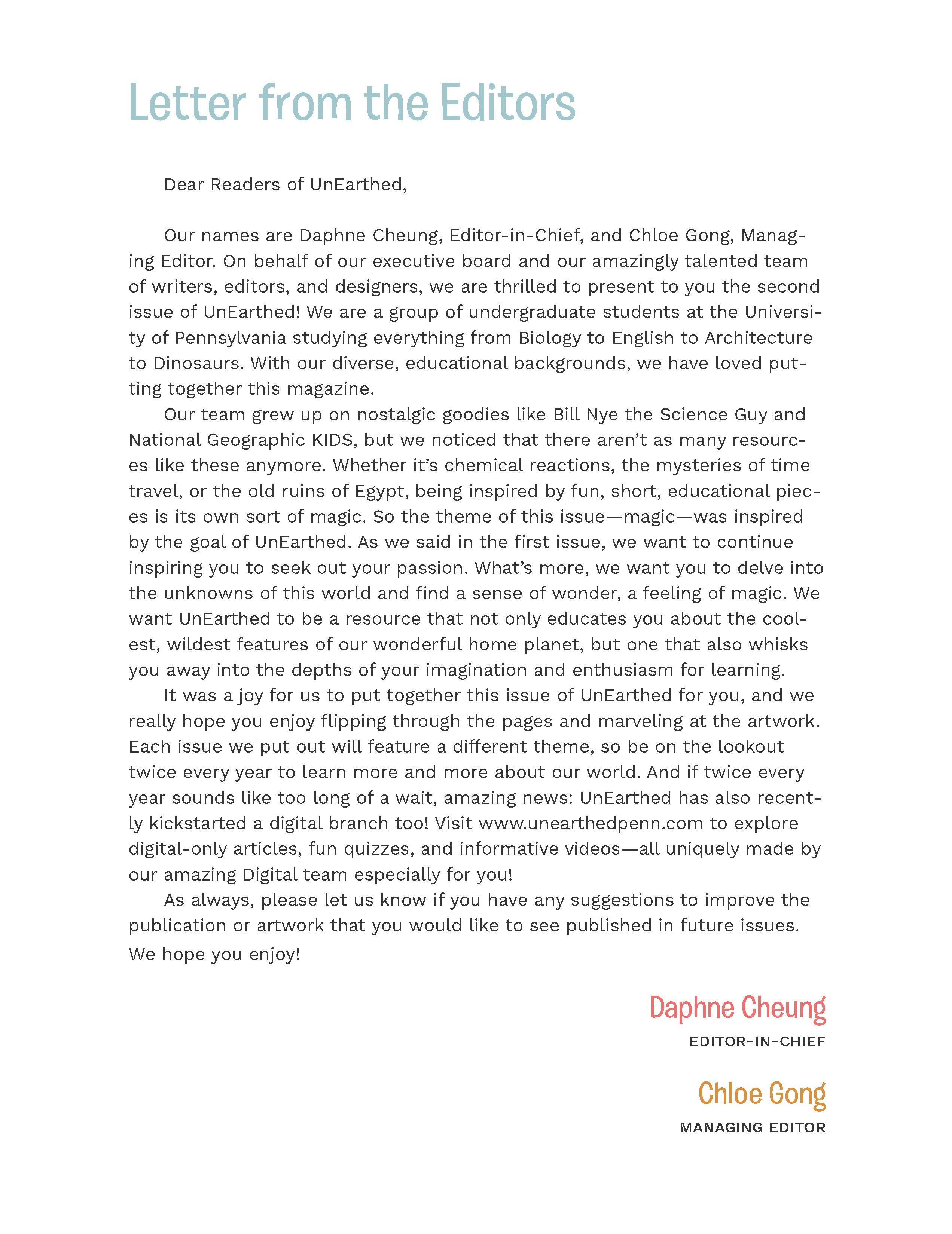 Editors' Letter
