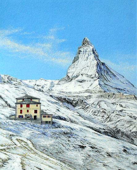 Matterhorn from Riffelberg, Winter Scene, Zermatt, Switzerland