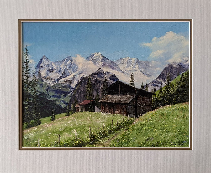 Artist signed Giclee print Eiger Trail