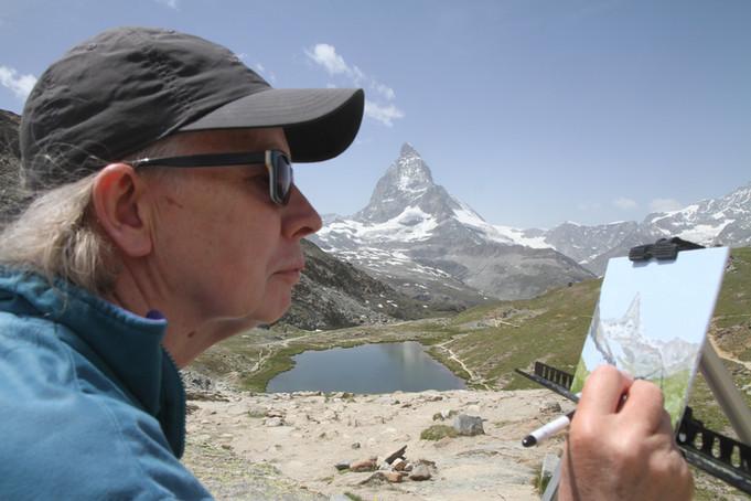 Plein Air Painting, Matterhorn, Switzerland