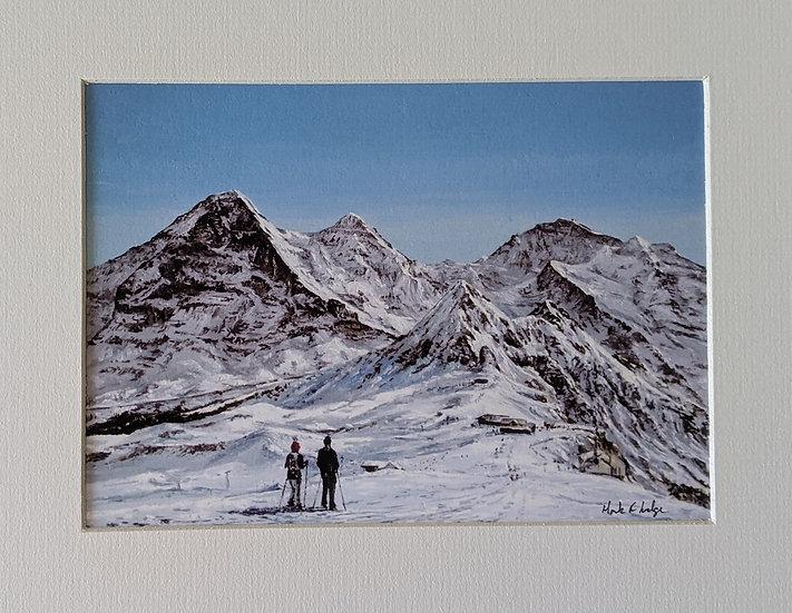 Eiger, Monch, Jungfrau from Mannlichen, Winter Scene