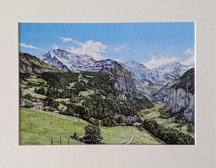 Jungfrau, Lauterbrunnen Valley from Wengen