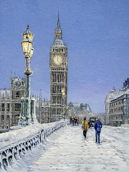 Big Ben, Evening Snow Scene