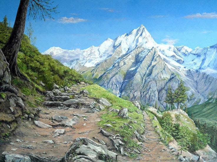 The Grande Jorasses, Mont Blanc Massif