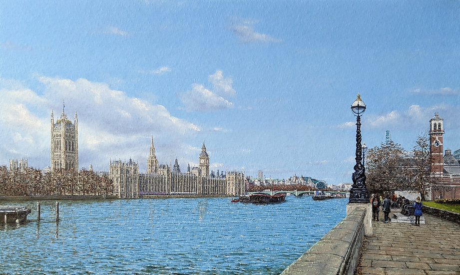 Palace of Westminster from Albert Embankment, London