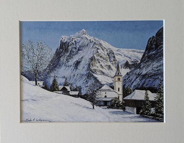 Grindelwald Church, Winter