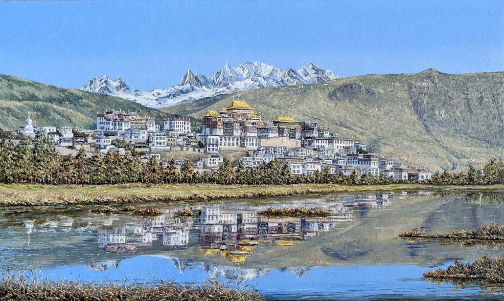 Oil Painting, Songzanlin Monastery, China